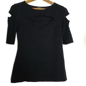 Express black top with cut outs F18